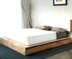 King Size Bed Frame With Drawers Plans Underneath Single Frames ...