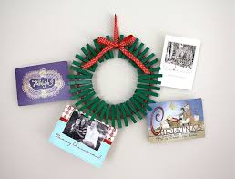 christmas card holder wreath diy