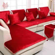 red velvet sofa. Red Velvet Sofa Free Shipping Grey Camel Black Cover Flannel Plush Slipcovers Cheap Sectional Couch Covers In From Home