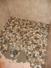 something from nothing a little bit of everything pebble shower in floor ideas 17