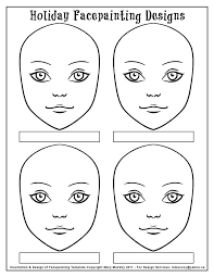 face paint templates printable