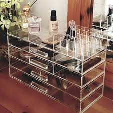 Decorative Display Cases Ikee Design Large Clear Acrylic Jewelry And Cosmetic Storage