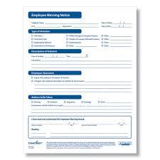 Employee Warning Notices Employee Warning Form