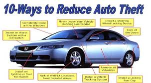 10-Ways to Reduce Auto Theft