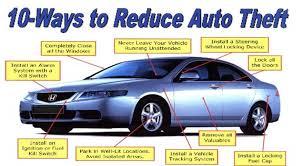 10-Ways to Reduce Auto Theft