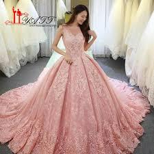 pink wedding gowns. 2018 New Pink Wedding Dresses Elegant Sheer V Neck Sleeveless Lace