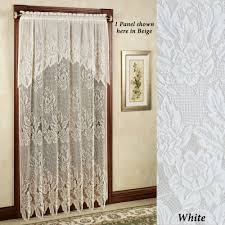 hallie lace curtain panel with valance to expand