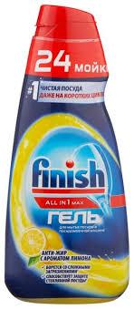 <b>Finish All</b> in 1 <b>гель</b> антижир (лимон) для посудомоечной машины ...