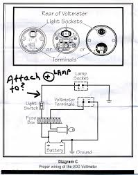vdo voltmeter gauge wiring diagram wiring diagram and schematic vdo vision chrome 12v voltmeter gauge 332 193 vdo gauges wiring diagrams