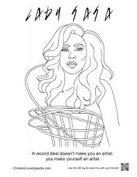 lady gaga coloring pages.  Gaga In Lady Gaga Coloring Pages G