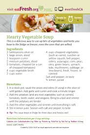 Hearty Vegetable Soup Recipe Card