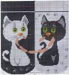 Схемы вышивки влюбленных в черно белом
