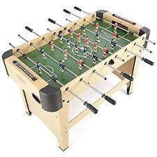 table football. jump star sports 4ft beech finish full size wooden football fussball games table