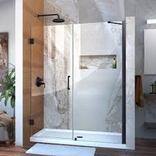 dreamline unidoor 59 to 60 in x 72 in frameless hinged shower door in