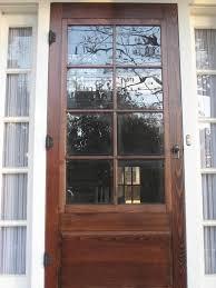 wooden screen door wood storm doors