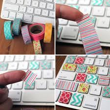 Washi Tape Keyboard Ideas