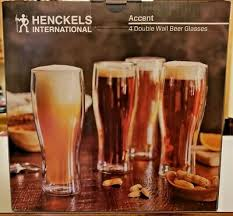 keep your favorite beer cold longer with a double wall glass from that this hand made glass has been improved to be 30 stronger than traditional