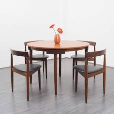 1950 Dining Room Furniture Hans Olsen Dining Table With Four Chairs 1950s