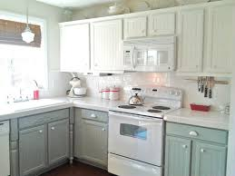 image of over painting kitchen cabinets