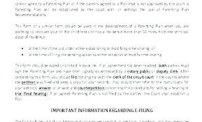 Custody Agreement Template Parenting Plan Child Custody Agreement Template With