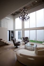Living Room With High Ceilings Decorating Decorations Futuristic Home Living Room Design With High Ceiling