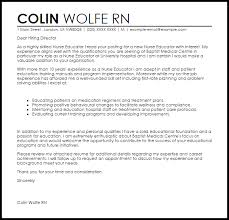 Nurse Educator Cover Letter Sample Cover Letter Templates Examples