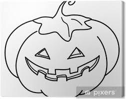 Canvas Halloween Pompoen Kleuren
