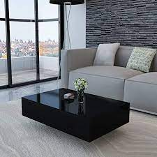 Same day delivery 7 days a week £3.95, or fast store collection. Amazon Com Canditree Modern Rectangular Coffee Table High Gloss Black Coffee Table For Living Room Office 33 5 X 21 7 X 12 2 Kitchen Dining