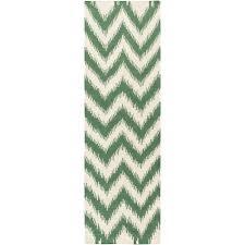 surya frontier emerald kelly green 3 ft x 8 ft indoor runner rug
