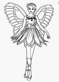 Barbie fairy coloring pages – Free coloring pages