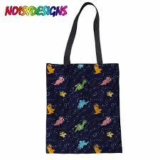 Women Bag Fashion Handbag <b>Dinosaurs In Space</b> Printed ...