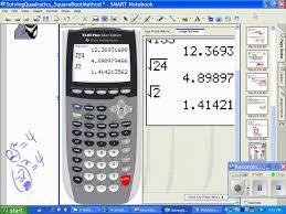 quadratics squarerootmethod