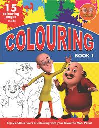 motu patlu colouring book 1 book at low s in india motu patlu colouring book 1 reviews ratings amazon in