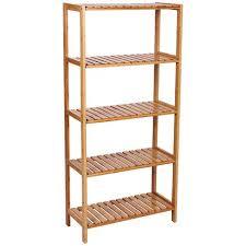 5 tier bamboo bathroom shelf unit storage stand shelves shoe rack 130 x 60 x 26cm bcb35y p 3653874 7573642 1 jpg