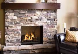 image of faux stone veneer fireplace