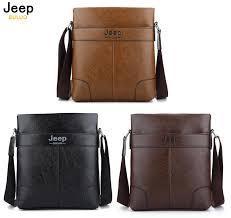 jeep buluo leather men bag casual outdoor leather bag shoulder bag