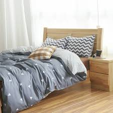queen comforter on twin bed. Interesting Queen Cotton Duvet Cover Bed Set Geometric Bedding Sets Comforter Twin  Queen Pillowcase America Throughout On