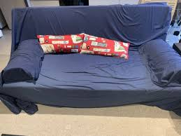 free sofa bed with two side cushions