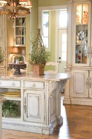 Best 25+ Distressed kitchen cabinets ideas on Pinterest | Mediterranean style  kitchen counters, Mediterranean granite kitchen counters and French country  ...