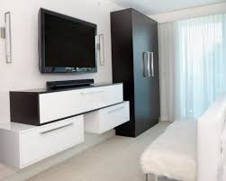 Small Picture Tv Wall Cabinet This Creative Wall Treatment Helps The Flat Panel