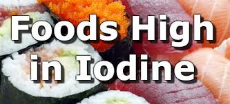 Iodine Levels In Food Chart Foods High In Iodine