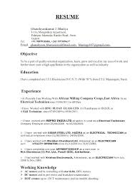 Example Electrician Resume Inspiration Apprentice Electrician Resume Sample Plus Industrial Electrician