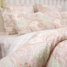 custom made twin size pink paisley bedding set