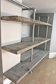 shelf ideas built with industrial pipe