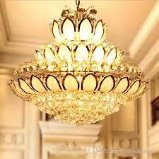 led crystal chandeliers lights fixture modern crystal lotus flower chandelier golden crystal pendant lamps home indoor hotel clubs lighting chandelier table