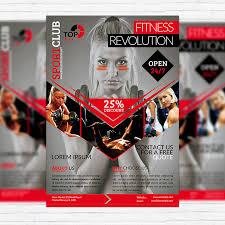 Fitness Brochure Template Psd Fitness Revolution Premium Flyer