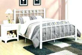 rod iron headboards queen. Delighful Queen White Metal Frame Beds Iron Queen Size Bed  Wrought Intended Rod Iron Headboards Queen B