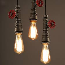 winsoon 1pc antique pipe rustic pendant light lighting for restaurant bar e27 fixtures all products