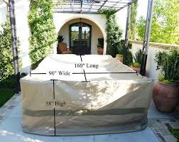 premium tight weave ultra large patio set cover 160 lx90 w fits rectangular or oval table