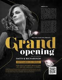 Free Party Flyer Templates Grand Opening Event Free Party Flyer Template Freebie